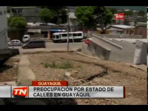 Preocupación por estado de calles en Guayaquil