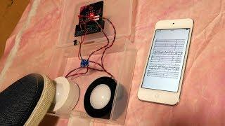 micro:bit Page Turner (Bluetooth LE controller) micro:bitで譜めくり
