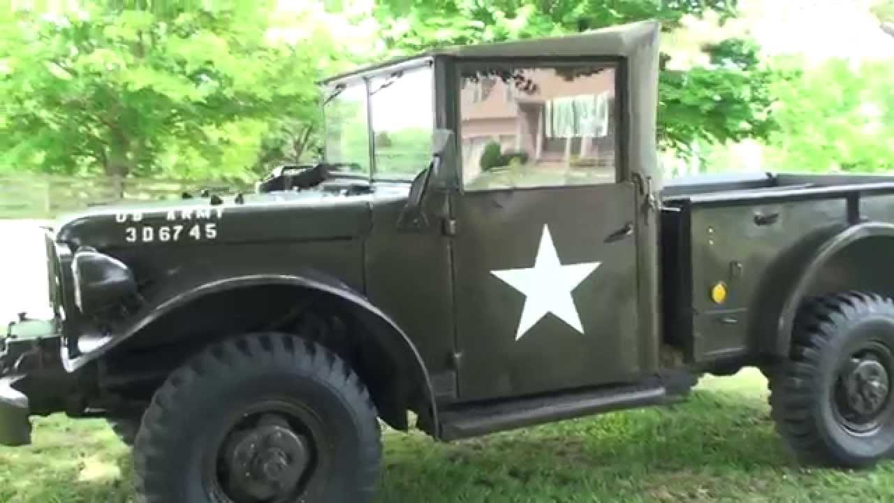 HD VIDEO 1952 M37 MT37 MILITARY DODGE TRUCK T245 FOR SALE WC 51 WC