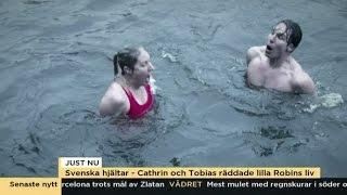 De räddade en två-åring från botten av Fyrisån - Nyhetsmorgon (TV4)