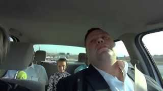 Amira Willighagen - Time to Say Goodbye - Rehearsal in Car with Paul Potts and James Bhemgee