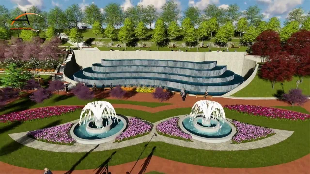 Conception d 39 un jardin public attatba tipaza youtube for Jardin publiques
