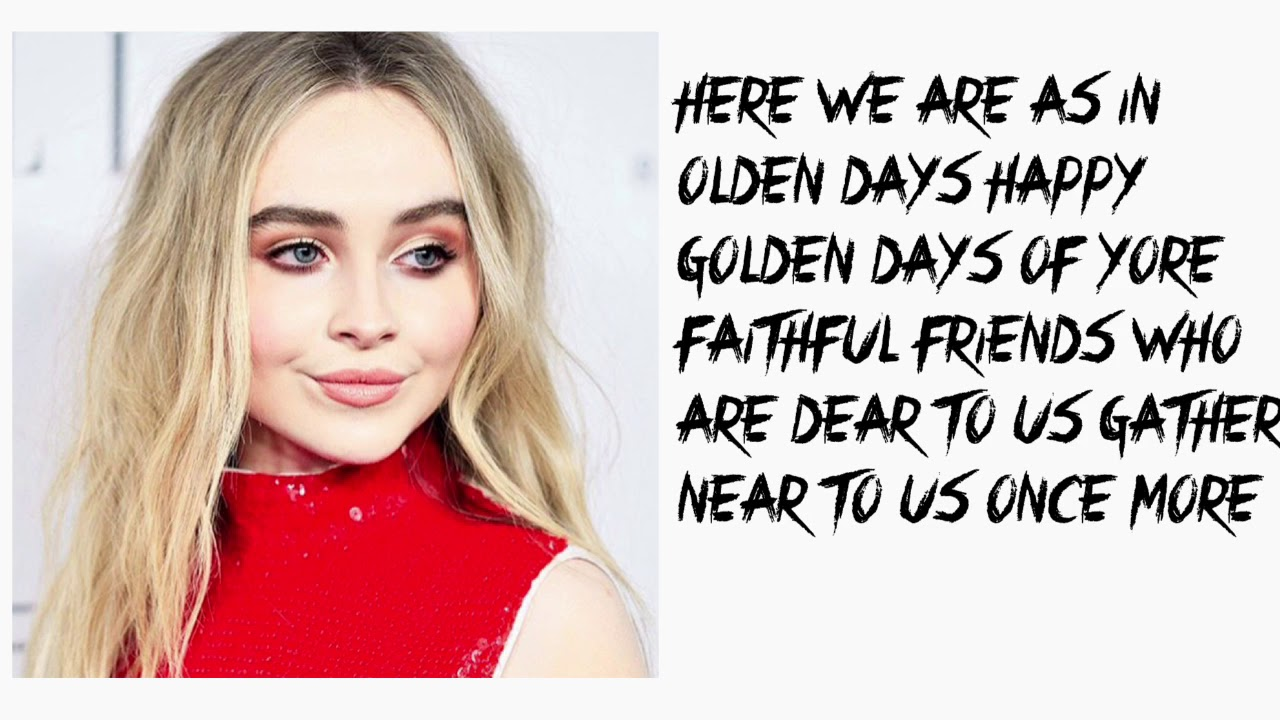 sabrina carpenter have yourself a merry little christmas lyrics
