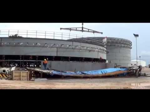 PROCESS OF JACKUP ERECTION DIESEL OIL STORAGE TANK