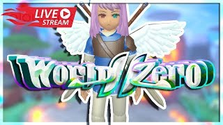 WORLD ZERO GAMEPLAY RELEASE ROBLOX NEW RPG GAME IS HERE LIVE STREAM!