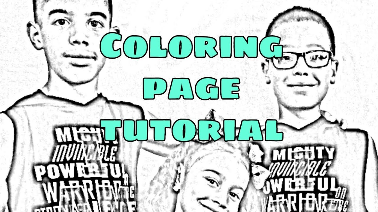 How to: Turn picture into a coloring page tutorial using picsart