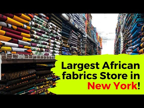 Largest African fabrics Store in New York!