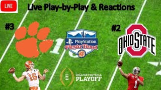 Ohio State Buckeyes vs. Clemson Tigers | Live Play-by-Play Reaction | CFB Playoff