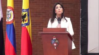 Instalación. Encuentro Nacional de Educación Privada.  María Victoria Ángulo.