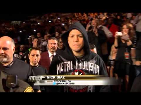 UFC 143 Nick Diaz Entrance vs Carlos Condit Interim Title