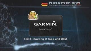 BaseCamp Route planen - Unterschied zw. Topo und OSM Karte # Teil 2/4