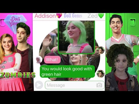 ZOMBIES Texting Story Disney Zombies Addison, Zed, Bucky, And Eliza Text Story Chat Disney Channel