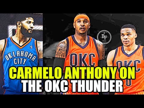 WHAT IF CARMELO ANTHONY GETS TRADED TO THE OKLAHOMA CITY THUNDER?
