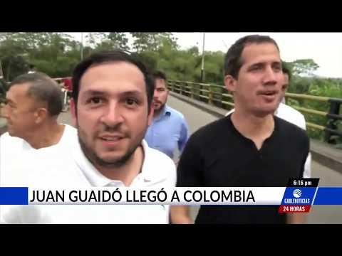 Juan Guaidó llegó de sorpresa a Colombia y asistió al Venezuela Aid Live