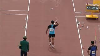 제102회 전국체육대회 육상 남고 창던지기