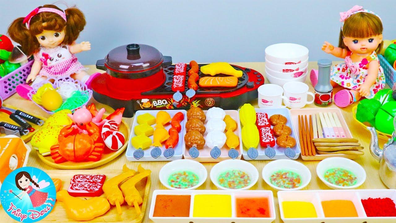 ละครสั้น ตอน เมลจังกับคองซูนิไปกินชาบูหลังเลิกเรียน ของเล่นทำอาหาร ของเล่นเครื่องครัว Fairy Doll TV