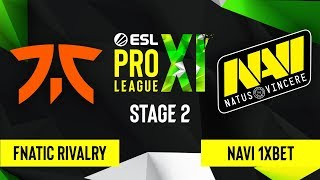 CS:GO - NAVI 1XBET vs. Fnatic Rivalry [Inferno] Map 1 - ESL Pro League Season 11 - Stage 2