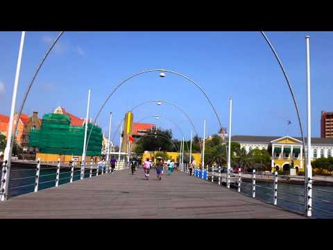 A Walk Across the Queen Emma Bridge in Curaçao