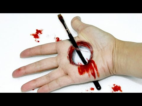 FX Makeup using Body Paint: Hole in Hand Body Paint