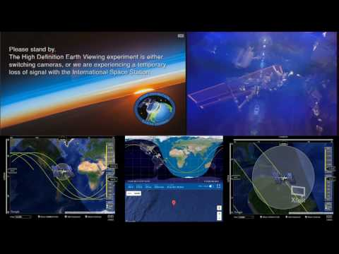 Stretched Out Orbital Sunrise - ISS International Space Station Live With 2 Cams - 23
