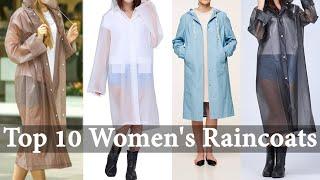 10 Best Fashionable Women's Raincoat | Ladies RainWear | Raincoats Design 2019