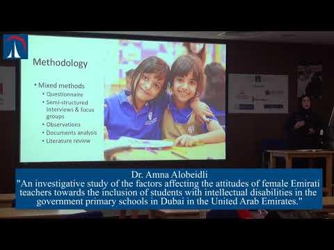 Dr. Amna Alobeidli - Doctorate of Education