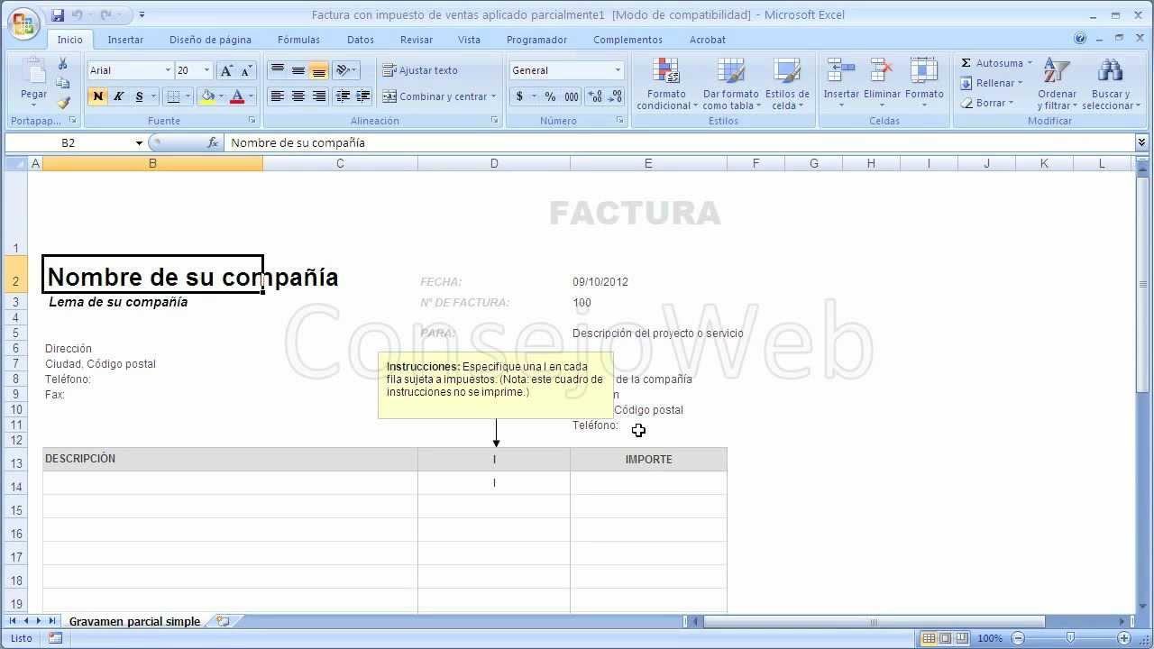 Como Hacer Una Factura En Excel YouTube - Como hacer un invoice en la computadora