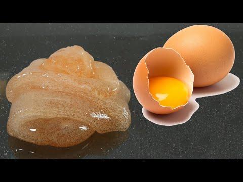 EGG SLIME💦 Testing NO GLUE EGG Slime Recipes! #02