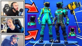STREAMERS REACT A *NUEVO * TOXIC Trooper & HAZARD AGENT SKINS + AUTOCLEAVE PICKAXE! Momentos Fortnite
