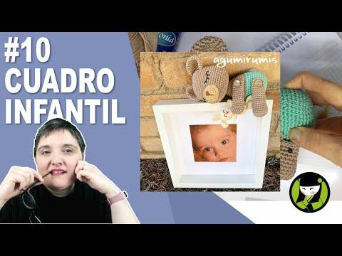 CUADRO INFANTIL AMIGURUMI 10 paso a paso