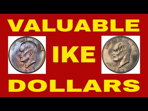 RARE 1973 EISENHOWER DOLLARS! IKE DOLLARS TO LOOK FOR COIN ROLL HUNTING!!