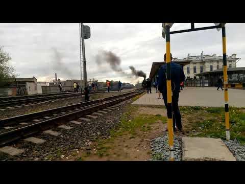 Эксклюзив! Паровоз п36-0147 с пассажирским поездом Рыбинск-Ярославль