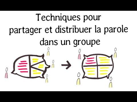Techniques pour distribuer la parole dans un groupe