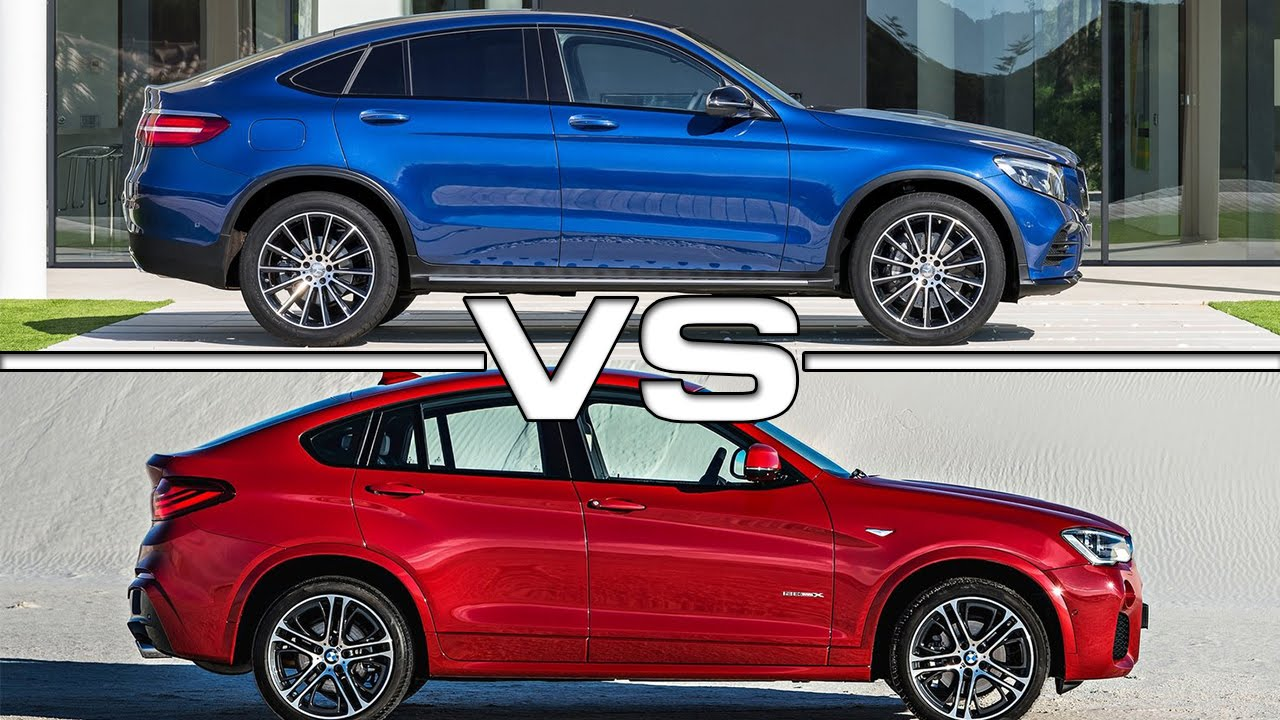 mercedes glc coupe vs bmw x4 youtube. Black Bedroom Furniture Sets. Home Design Ideas