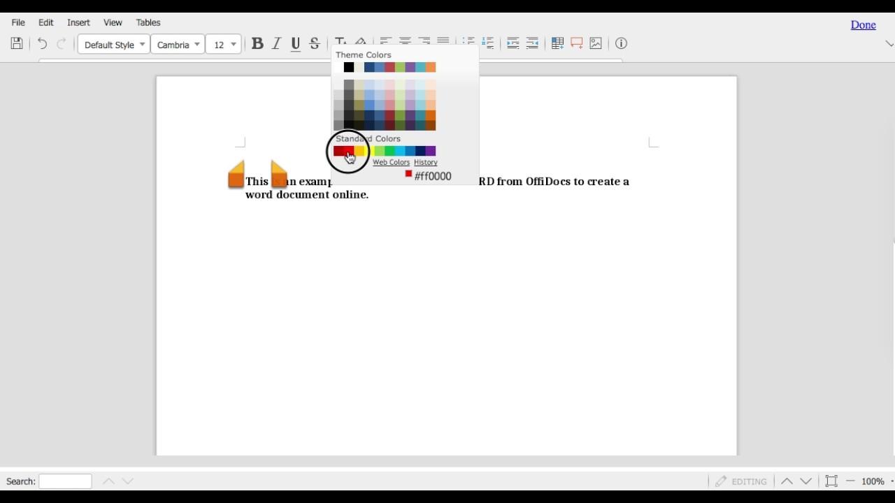 Create online WORD document - OffiWord App - OffiDocs