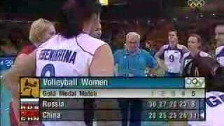 Russia 2:3 China Final Olimpic Game Athens 2004 Volleyball