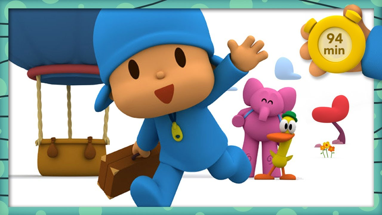 🧳 POCOYO AND NINA - A Travelling Adventure [94 min] | ANIMATED CARTOON for Children | FULL episodes