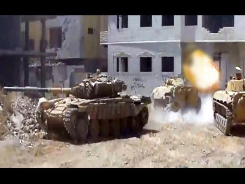 ᴴᴰ Tanks with GoPro's™ Attack Encircled Rebels in Jobar Syria ♦ subtitles ♦