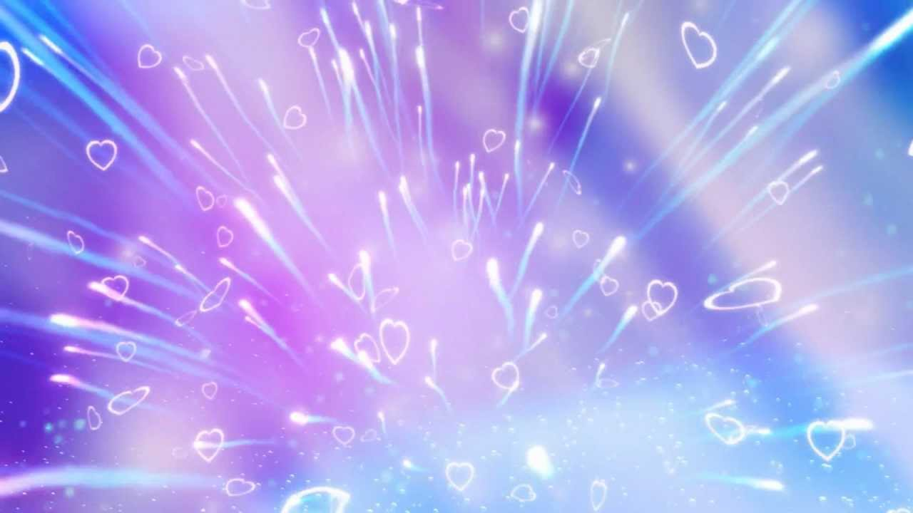 Valentine S Day Falling Hearts Fireworks Sparkle Motion Graphics