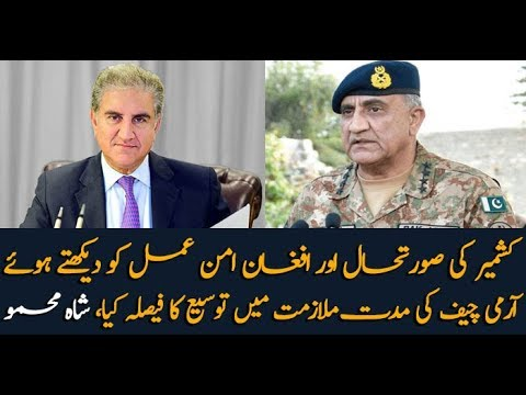 PM decides to extend the term of employment of Army Chief: Shah Mehmood