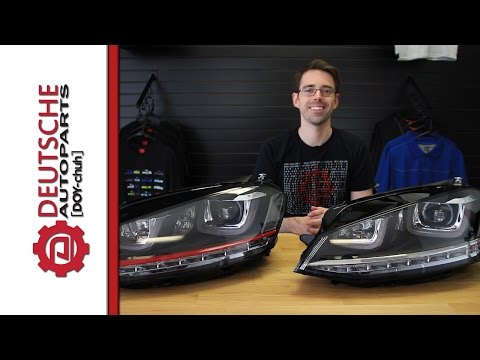 MK7 Golf R Style LED DRL Headlight Install on our MK7 GTI (for Halogen Cars)