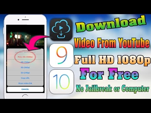 How To Download  From YouTube Full HD 1080p For FREE iOS 910103 No JailbreakPC iPhone