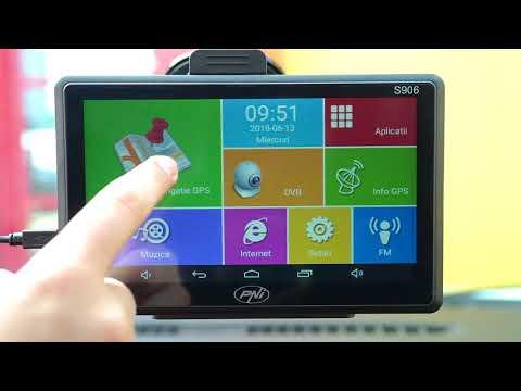 Sistem de navigatie GPS + DVR PNI S906 ecran 7 inch cu Android 6.0, harti Here Maps si Waze