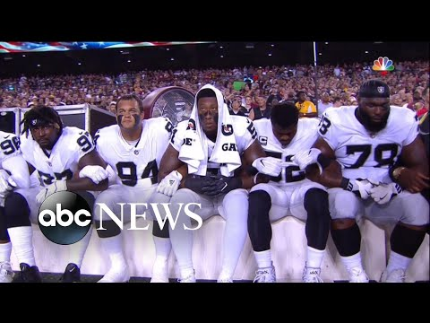 NFL players send message to Trump in national anthem dispute