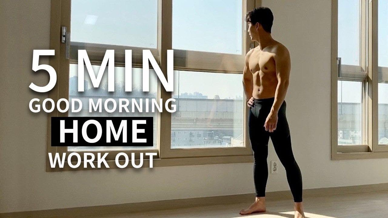 5 MIN HOME WORKOUT YOU CAN DO EVERY MORNING l 매일 아침 5분 전신 홈트레이닝