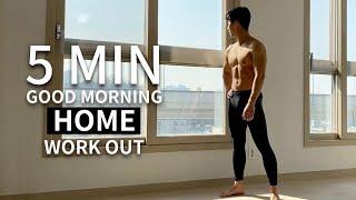 5 MIN HOME WORKOUT YOU CAN DO EVERY MORNING l 매일 아침 5분 전신 홈트레이닝