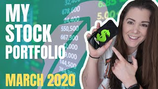My ENTIRE Robinhood Portfolio - Revealing My LONG TERM DIVIDEND Stock Investments!! (March 2020)