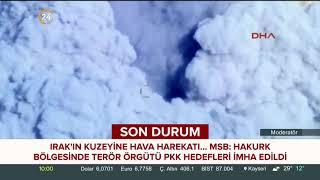 Hakurk bölgesinde terör örgütü PKK hedefleri imha edildi