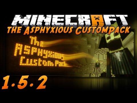 Minecraft 1.5.2: The Asphyxious CustomPack! (Texture Pack Spotlight)