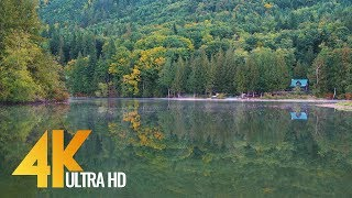 4K Lake Footage/ Relaxation - Silver Lake at Mount Baker Area, USA - 3 HRS